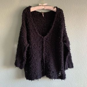 Free People Lofty V-Neck Pullover Sweater sz M